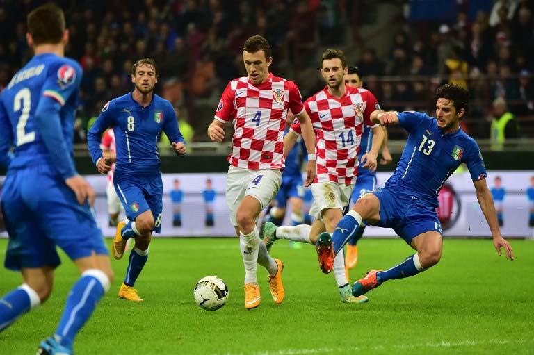 Italien gegen Kroatien am 16.November 2014 im San Siro Stadion von Mailand (AFP PHOTO / GIUSEPPE CACACE)
