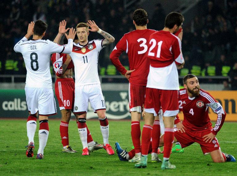 Pflichtaufgabe im Hinspiel gegen Georgien gelöst. Foto: AFP