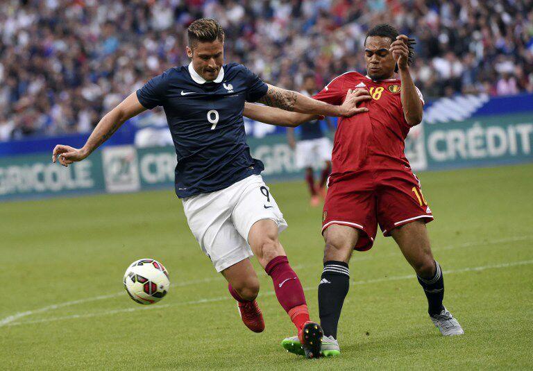 Ein ewig-junges Duell: Frankreich gegen Belgien (Foto AFP)
