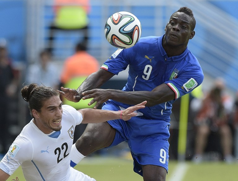 Trifft Deutschland auf Itailien und Ballotelli - den Schreck des EM 2012-Halbfinales? AFP PHOTO/ DANIEL GARCIA
