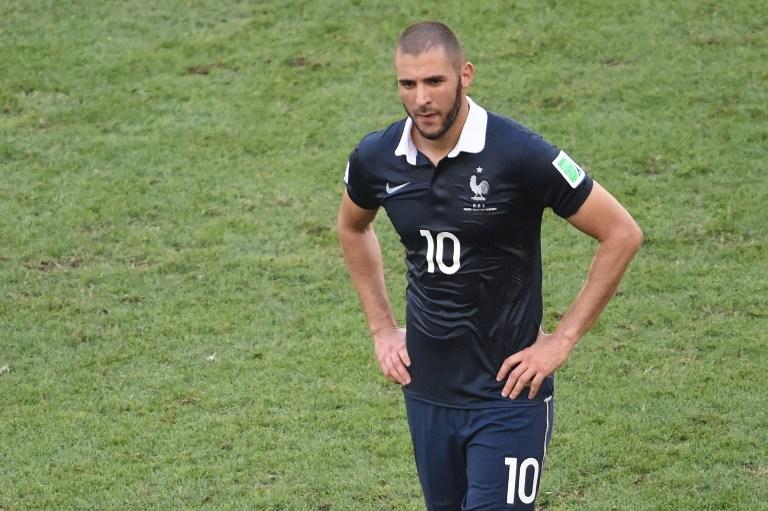 Frankreichs Karim Benzema nach der Niederlage gegen Deutschland bei der WM 2014 - seitdem ging's bergab!  AFP PHOTO / CHRISTOPHE SIMON