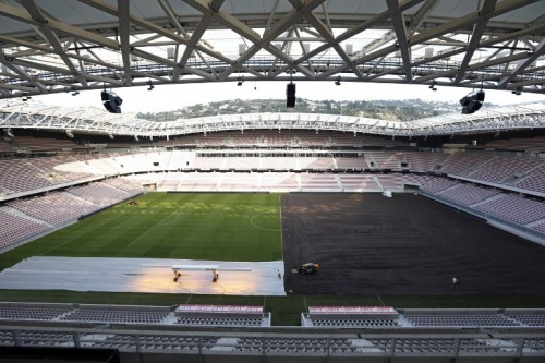 Allianz Riviera Stadion in Nizza. AFP PHOTO / VALERY HACHE